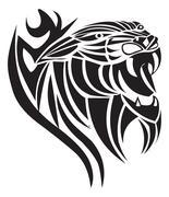 Panther tattoo design, vintage engraving. Stock Illustration