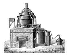 Concentration of Sulfuric Acid, vintage engraving Stock Illustration