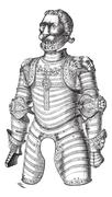Armor of lion also known as Louis XII vintage engraving Stock Illustration
