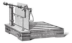 Steelyard balance or steelyard vintage engraving Stock Illustration
