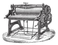 Mangle or wringer vintage engraving Piirros