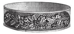 Flower design modern bracelet vintage engraving Stock Illustration