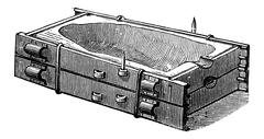Mould Casing and Cover, vintage engraving Stock Illustration