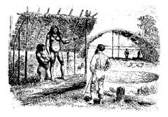 Aracoupina, a Native Woman Leader in Oiapoque, Brazil, vintage engraving Stock Illustration