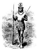 Coreguaje Indian of Amazonas, Brazil, vintage engraving Stock Illustration