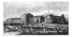 United States Naval Academy in Annapolis, Maryland, USA, vintage engraving Stock Illustration