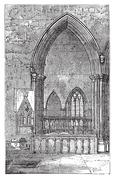 Decoracted gothic arch in Dorchester Abbey in Dorchester-on-Thames, Oxfordshi Stock Illustration