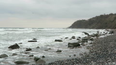 Beach at Coastline of Cape Arkona (Germany) Stock Footage