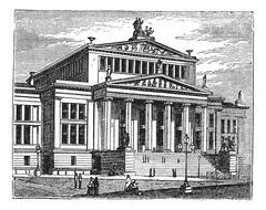 Konzerthaus Berlin also known as Schauspielhaus Berlin, concert hall, Berlin, Stock Illustration