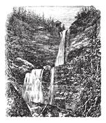 Catskill or Kaaterskill Falls vintage engraving Piirros