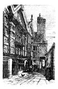 Stanley Palace, in Chester, Cheshire, United Kingdom, during the 1890s, vinta Stock Illustration