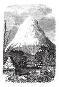 Chimborazo Volcano in Ecuador, during the 1890s Stock Illustration