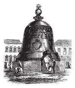 Tsar Bell or Tsarsky Kolokol or Tsar Kolokol III or Royal Bell, in Moscow, Ru Piirros