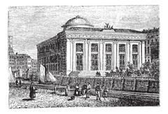 Thorvaldsen Museum in Copenhagen, Denmark, vintage engraving Stock Illustration