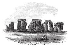 Cromlech, vintage engraving Stock Illustration