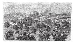 Delhi in India, vintage engraving Stock Illustration