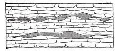 Geological Vein, vintage engraved illustration. Stock Illustration