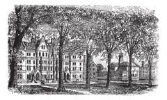 Harvard University, Cambridge, Massachussets vintage engraving Piirros