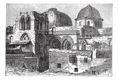 Church of the Holy Sepulchre or Church of the Resurrection in Jerusalem, Isra Stock Illustration