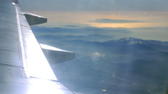 Landscape scene, view from flying airplane Stock Footage