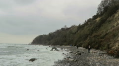 Beach at Coastline of Cape Arkona (Germany) Stock Footage