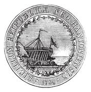 Seal of the State of New Hampshire, vintage engraved illustration Stock Illustration