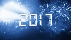 Countdown 10 to 1 finals 2017 happy new year Blue Stock Footage