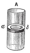 Flap Valve, vintage engraving Stock Illustration