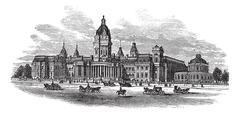 San Francisco City Hall in America vintage engraving Piirros