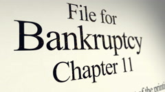 Filing Paperwork for Chapter 11 Bankruptcy Stock Footage