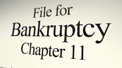 Filing Paperwork for Chapter 11 Bankruptcy - Reverse Angle Stock Footage
