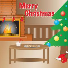 Warn Christmas setup, full vector. Stock Illustration
