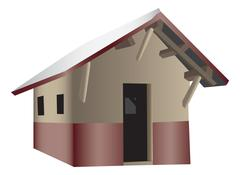 Shack house Stock Illustration
