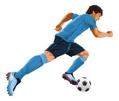 Vector of soccer player in action. Stock Illustration