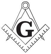 The Masonic Square and Compass symbol, freemason Piirros