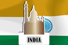 India, illustration Stock Illustration