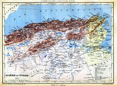 The map of Algeria and Tunisia Stock Illustration