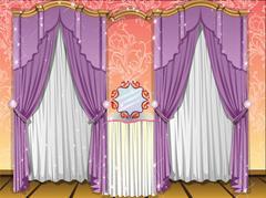 Window curtains, illustration Piirros