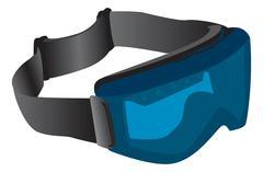 Tinted ski goggles Stock Illustration