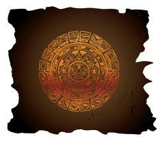 Mayan calendar, illustration Stock Illustration