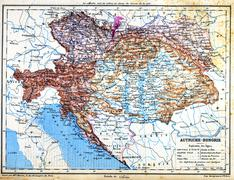 The map of Austria-Hungary Stock Illustration