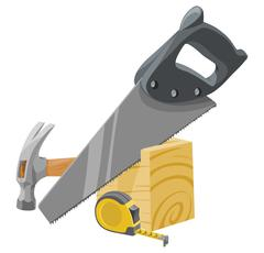 Vector of carpentry tools. Stock Illustration