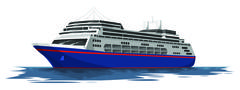 Vector of cruise ship. Piirros