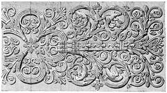 Forge hinges of the door of the Virgin, vintage engraving. Stock Illustration