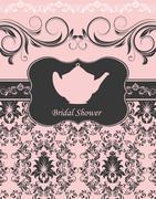 Bridal shower invitation Stock Illustration