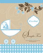 Baby shower announcement Stock Illustration