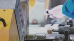 PVC sections of windows and doors in a single frame - finishing process Stock Footage
