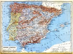 The map of Spain and Portugal Stock Illustration