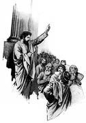 """Paul told the philosophers of the Athens that """"Lord of heaven and earth dwell Stock Illustration"""