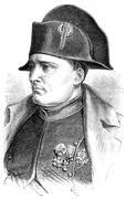Napoleon, vintage engraving. Stock Illustration